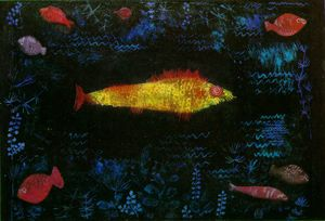 Paul Klee, The Golden Fish, 1925, Oil and watercolor on paper, mounted on cardboard, 50 x 69 cm, Kunsthalle, Hamburg