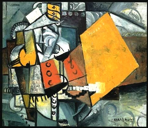 Kazimir-Malevich-A-Soldier-Of-The-Guards-Oil-Painting