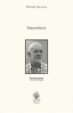 Pierrick Steunou, Interstices, Éditions de l'Amandier, Collection Accents graves-accents aigus, 2014