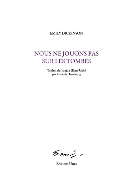 Couverture Dickinson