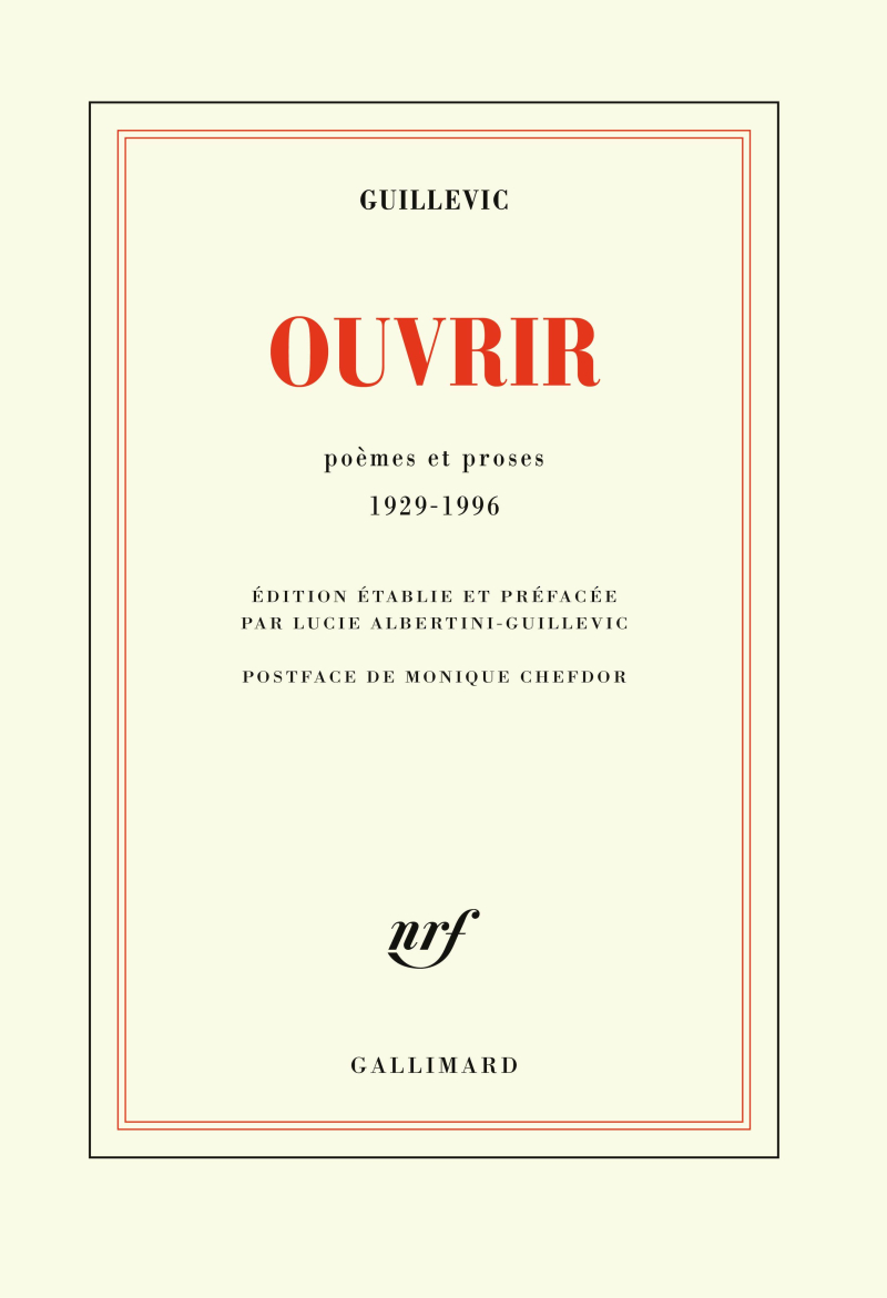 Guillevic  Ouvrir