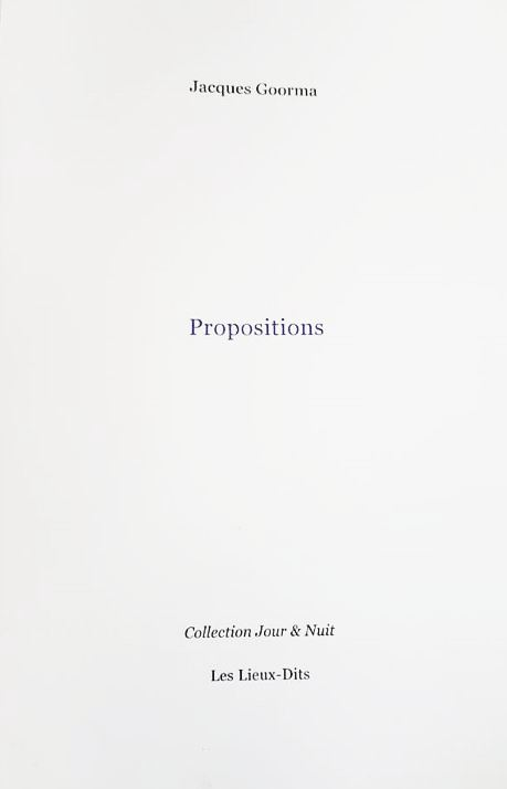 Jacques Goorma  Propositions 2